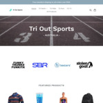 Free Standard Delivery on All Orders (No Minimum Spend) @ Tri out Sports
