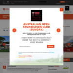 Win 2x Stonehaven Club Packages worth $1300 for The Sunday Final at 2019 Emirates Australian Open from Crazy Golf Deals