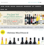 Red, White or Mixed Dozen $69 Delivered @ Cellarmasters
