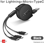 Cafele 3 in 1 Retractable USB Cable, $7.95 + $3.95 Shipping @ Shopping Square