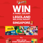 Win 1 of 3 Family Holidays to Singapore and Legoland Malaysia Resort or 1 of 84 AYAM Daily Hampers from AYAM [Purchase]