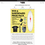 Win a Surfboard Prize Pack Worth over $1000 from Sin Eyewear