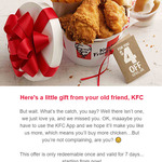 $4 off $5 Minimum Spend @ KFC (App)