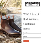 Win a Pair of R.M. Williams Craftsman Boots from Everything Australian