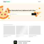 Free Delivery for 14 Days for New Users @ Uber Eats