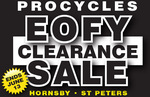 Procycles Hornsby EOFYS up to 75% off