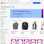 30% off 50 Selected Home & Apparel Sellers (Min $20 Spend) @ eBay