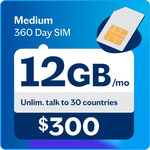 Lebara Medium 360 Day SIM 170GB (Available for Existing Customers via My Lebara) $200.00 (Was $300.00)