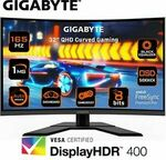 """Gigabyte G32QC 31.5"""" 165hz QHD Curved Gaming Monitor $489.60 Delivered @ gg.tech365 eBay"""