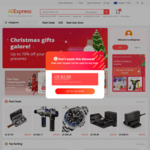 US$4 off US$5 Spend for New Social Media Users @ AliExpress