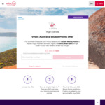 Double Velocity Points on Eligible Virgin Australia Flights Booked between 9 and 17 February 2021 @ Velocity Frequent Flyer