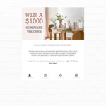 Win a $1000 Homewares Voucher from Marmoset Found