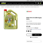 Castrol Edge Engine Oil 5W-30 5L $24.99 in-Store Only @ Autobarn