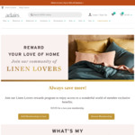 [Linen Lovers] $30 off with $100 Minimum Spend @ Adairs