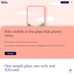 1 Month Free Unlimited Mobile Subscription (Save $35): Unlimited Data up to 20Mbps @ Felix Mobile (App Required)