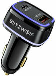 BlitzWolf BW-SD8 118W USB PD & QC 3.0 Car Charger US$16.99 (~A$23.53) Delivered @ Banggood