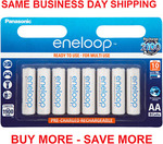 [Afterpay, eBay Plus] Panasonic Eneloop AA Rechargeable Nimh Batteries 8-Pack $32.29 Delivered @ TechLake eBay