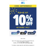 [QLD] 10% off Personalised Plates @ PPQ