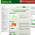 Woolworths - FREE Delivery with First Order