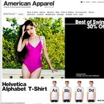 American Apparel - 30% off Everything Online (Mon 26/11)