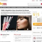3x Maybelline Colour Sensational Lip Glosses - 6 Colours - $15 - Free Delivery - Mydeal.com.au