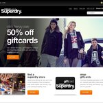 [Click Frenzy] 50% off Superdry Giftcards For Use In Store Only
