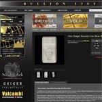 BullionList.com.au New Silver Bullion - Geiger 10oz Security Line Bar - $9 off
