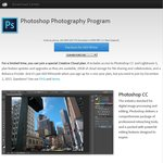 Adobe Photoshop CC and Lightroom 5 Subscription for $9.90 / Months