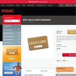 Free GNC Gold Card Giveaway RRP $10