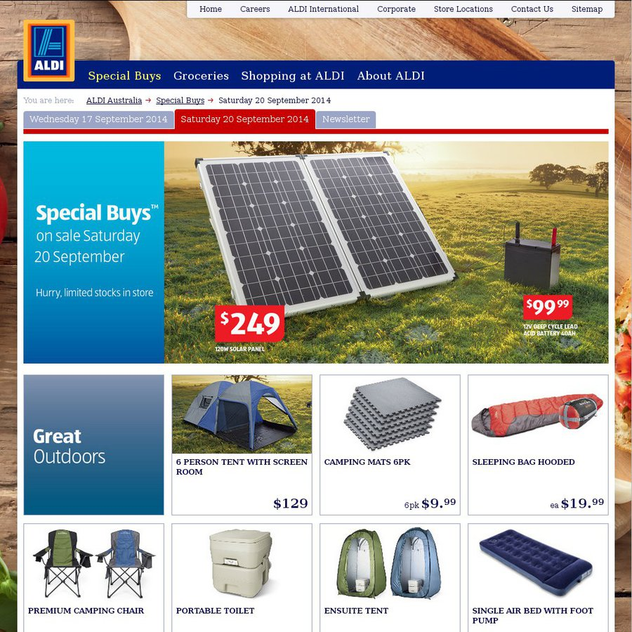 Aldi Special Buys Great Outdoors Camping Etc Outdoor