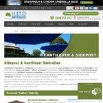 Shelta's Cantilever Umbrellas - Lynden $609 & Savannah $1199 + Shipping W Free LED Light & Cover