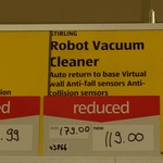 Stirling Robot Vacuum Cleaner $119 was $179 @ Aldi Tarneit, VIC
