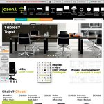 Office Chairs/Office Desks Starting $48/$163 + Shipping with 'NEW30' Coupon Code @ JasonL