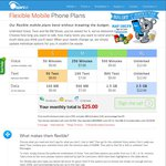 Spintel 3G/4G Mobile/Data Plan - Half Price Activation & First Month Plan (Save $18)