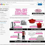 20% off Everything at Peters of Kensington eBay