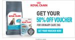 50% off Royal Canin 2KG Cat Food