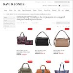 Designer Sale - Now Save up to 60% on Footwear & Accessories - Online Only at David Jones