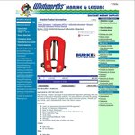 BURKE 150n issm1500 Manual Inflatable Lifejacket $59.95 + Shipping or Free in-Store @ Whitworths Marine