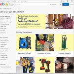 20% off at 10 Selected Stores on eBay (Supercheap Auto, Outbax Camping, Grays Online, Edisons, Sparesbox, Knives Online + More)