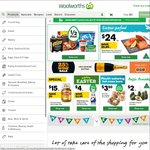 $15 off Woolworths Online ($150 Minimum Purchase) and $20 off Woolworths Online ($220 Minimum Purchase)