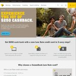$250 Cashback after $500 Spend with Commonwealth Bank: Low Rate Gold Credit Cards ($59/$89 Annual Fee)
