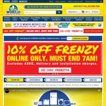 10% off Storewide (Includes Factory 2nd, Carton Damaged & Brand New Products) @ 2nds World Online