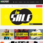 Insport - 50% off Champion, Puma, Russell Men/Women Clothes 25% off LeCoqSportif, Ellesse & Running Bare Free Shipping over $100