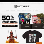 50% off Everything at Loot Crate Vault - Exclusive Figures and Shirts from US $2.50 (Flat Rate US $10 Shipping)
