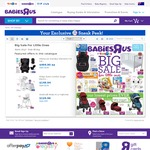 Baby Jogger City Mini GT Half Price ($399) City Select Garnet ($600) Second Seat Garnet ($140) @ Babies R Us (Start 19 July)