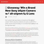 Win a Sony α6500 Mirrorless Camera & 18-105mm F4 G Lens Bundle Worth $2,530 from Contrastly/The Photo Argus