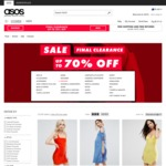 Final Clearance up to 70% off Lady's Dress Starts From $6.50 (RRP $56), Man's Jacket Starts from $12 (RRP $40) @ASOS