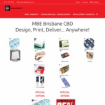 25% off Any Standard Printing @ MBE
