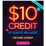 $10 Credit Site Wide ($39 Minimum Spend) @ Living Social Australia