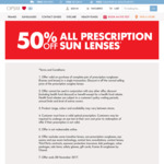 50% off All Prescription Sunglass Lenses at OPSM (Instore Only) When Purchased in Complete Pair